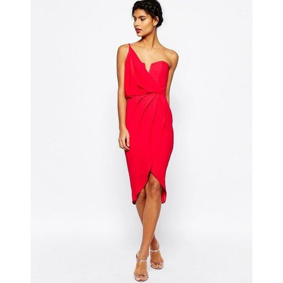 b08d1c631248 ASOS Dresses & Skirts - ASOS asymmetric one shoulder drape front dress